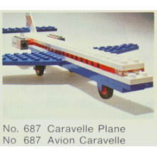 687 - Caravelle Plane - Parts of Set (usato)