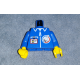 973px112c01 - Torso Launch Command Logo, Zipper and ID Badge Pattern / Blue Arms / Yellow Hands