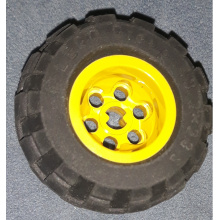 6580c01 - Wheel 43.2 x 28 Balloon Small, with Black Tire 43.2 x 28 Balloon Small (6580 / 6579)