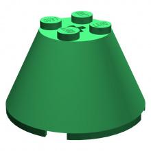 3943b - Cone 4 x 4 x 2 with Axl Hole
