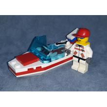 Speed Boat Bianca e Rossa con Pilota