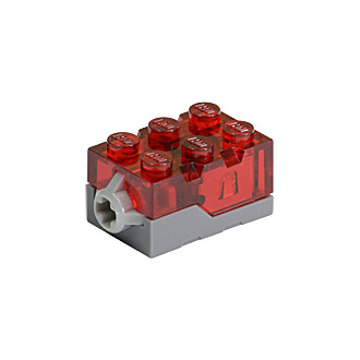 54930c01 - Electric, Light Brick 2 x 3 x 1 1/3 with Trans-Red Top and Red LED Light