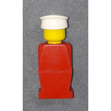 old002 - Legoland Old Type - Red Torso, Red Legs, White Hat