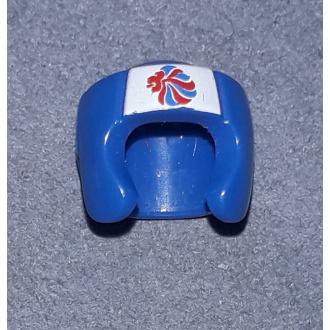 96204pb01 - Minifigure, Headgear Helmet Boxing with Team GB Logo Pattern
