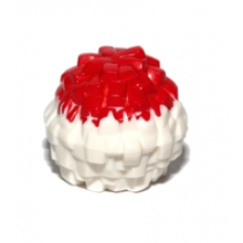 87997pb02 - Minifigure, Utensil Cheerleader Pom Pom with Red Top Pattern