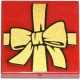3068bpb0786 - Tile 2 x 2 with Groove with Present / Gift with Gold Bow Pattern