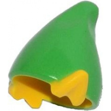 13787pb01 - Minifigure, Headgear Hat, Elf with Pointed Ears with Bright Green Top Pattern