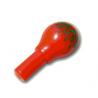 90301pb01 - Red Minifigure, Utensil Maraca with Green Geometric Pattern - Narrow Print