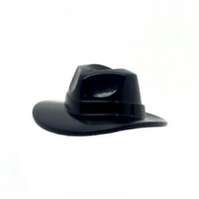 61506 - Black Minifigure, Headgear Hat, Wide Brim Outback Style (Fedora)