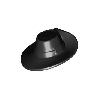 93554 - Minifigure, Black Headgear Hat, Musketeer
