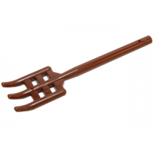 95345 - Minifigure, Utensil Pitchfork Type 2 - Flat Bottom, Soft Plastic