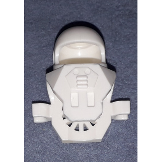 x40 - White Minifigure, Headgear Helmet Underwater with Antenna and Clips