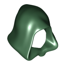 30381 - Dark Green Minifigure, Headgear Hood