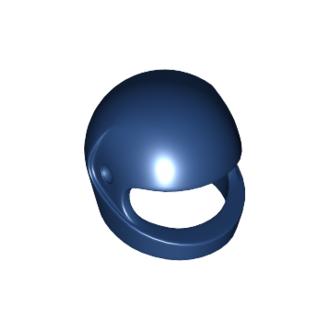 2446 - Dark Blue Minifigure, Headgear Helmet Standard