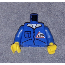 973px122c01 - Torso Town Bulldozer Logo, Zipper Jacket, Pocket Pattern (Lorry Driver) / Blue Arms / Yellow Hands