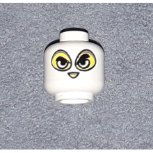 3626bpx137 - Minifigure, Head Balaclava with Separate Eyes and Nose Holes Pattern - Blocked Open Stud