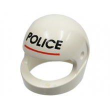 2446px2 - Minifigure, Headgear Helmet Standard with 'POLICE' Red Line Pattern