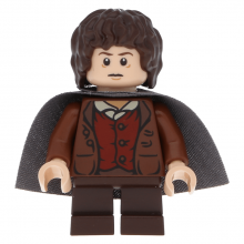 lor003 - Frodo Baggins - Dark Bluish Gray Cape