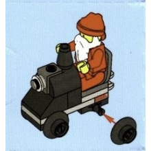 2824-25 Santa Claus with Toy Train Engine