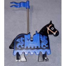 4493c01pb02 + 2490px2 - Cavallo Nero con Bardatura Blu