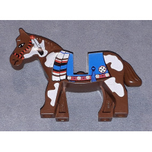 4493c01px2 - Horse with Blue Blanket, Right Side Red Circle Pattern