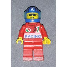 oct039 - Octan - Racing, Red Legs, Blue Helmet 4 Stars & Stripes, Trans-Light Blue Visor