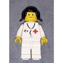 doc030 - Doctor - Stethoscope, White Legs, Black Pigtails Hair