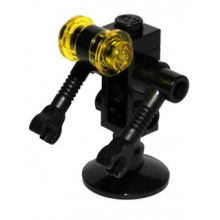 sp084 - Futuron Droid, Black with Trans-Yellow Eyes