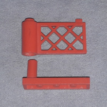 3186 + 3187 Red Fence Gate with Base