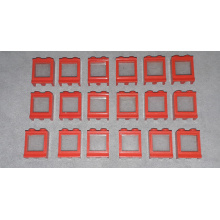 7026 - Red Window 1 x 2 x 2 with Fixed Glass