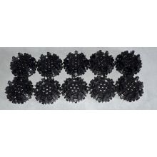 64712 - Black Wheel Hard Plastic with Small Cleats and Flanges