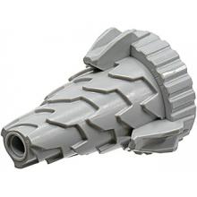 64713 - Light Bluish Gray Cone Spiral Jagged - Step Drill