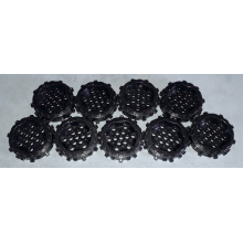 64711 - Black Wheel Hard Plastic with Small Cleats