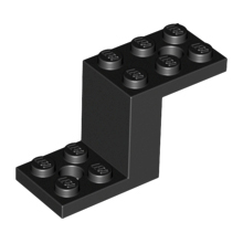 76766 - Bracket 5 x 2 x 2 1/3 with 2 Holes and Bottom Stud Holder