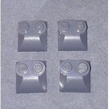 47457 - Brick, Modified 2 x 2 x 2/3 Two Studs, Curved Slope End