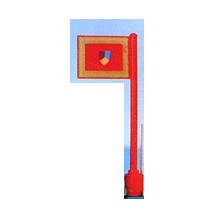 3596 - Flag on Flagpole, Straight