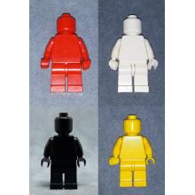 Minifigure Monochrome (Nero + Bianco + Rosso + Giallo)