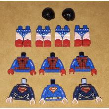 Parti Super Heroes (Superman - Spiderman - Wonder Woman)