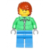 hol051 - Winter Jacket Zipper, Blue Legs, Dark Orange Hair, Crooked Smile