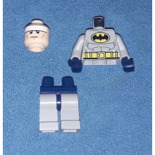 Batman - Light Bluish Gray Suit with Yellow Belt and Crest, Dark Blue Mask and Cape (Type 1 Cowl) (sh025)