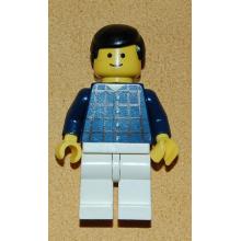 cty037 - Plaid Button Shirt, White Legs, Black Male Hair, Standard Grin